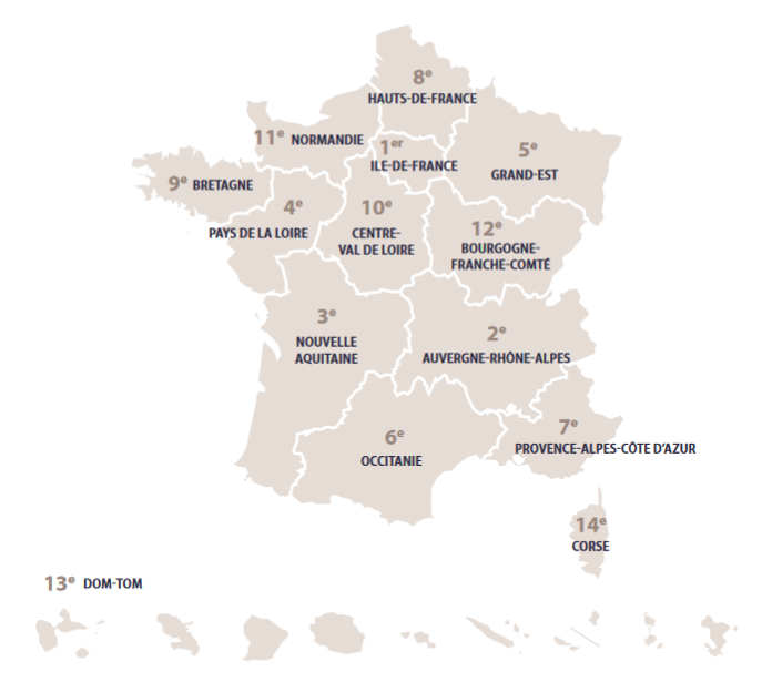 Recrutement region